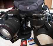 Продаю фотоаппарат Canon 450D Kit 18- 55 + Sigma 18- 200 б/у