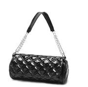Черная лакированная ручная женская сумка