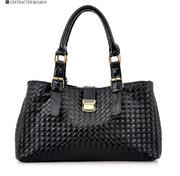 Стильная черная глянцевая портативная сумка из новой коллекции