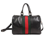 Стильная черная сумка с тремя полосками из кожи PU