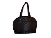 Стильная черная женкая сумка из стеганого текстия