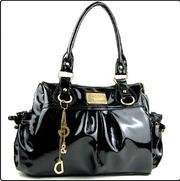 Черная женская лаковая сумка,  копия D&G