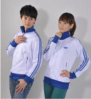 Adidas стильный джемпер свитер кофта белый с синими вставками