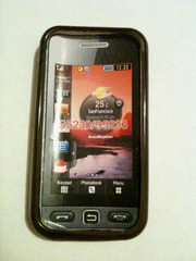 Темный силиконовый прозрачный чехол Samsung Star S5230 S5233