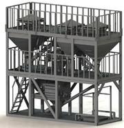 Лестницы,  площадки и опорные металлоконструкции
