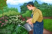 Садовник с опытом работы
