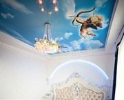 Натяжной потолок в спальню!
