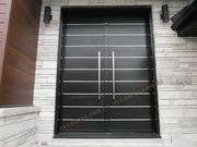 Двери входные металлические с порошковой покраской,  с МДФ накладками.