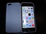 Силиконовый матовый белый TPU чехол iPhone 5C