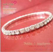 бриллиантовый браслет стразы камни Swarovski