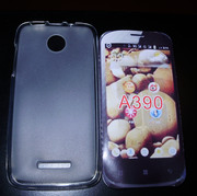 Белый матовый силиконовый чехол для Lenovo A390 IdeaPhone