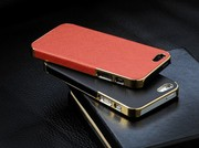 золотистый чехол OYO Gold кожа PU с велюром для iPhone 5 5S SE