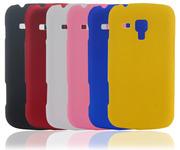 пластмассовый чехол софтач под бархат для Samsung Galaxy S Duos S7562