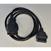 Кабель - удлинитель OBD-II (ОБД-2) - 16-pin мама-папа - 30/60/150 см - для LAUNCH Diag,  ELM327 и др.